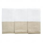 Kit toalha de boca em fralda Classic Bege