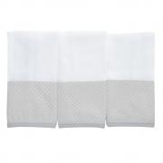 Kit toalha de boca em fralda Classic Cinza