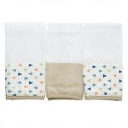 Kit toalha de boca em fralda Floresta