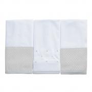 Kit toalha de boca em malha Classic Cinza
