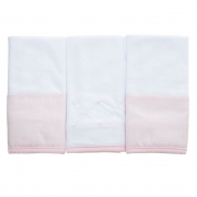 Kit toalha de boca em malha Classic Rosa