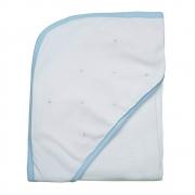 Toalha de banho em fralda Classic azul