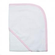 Toalha de banho em fralda Classic rosa