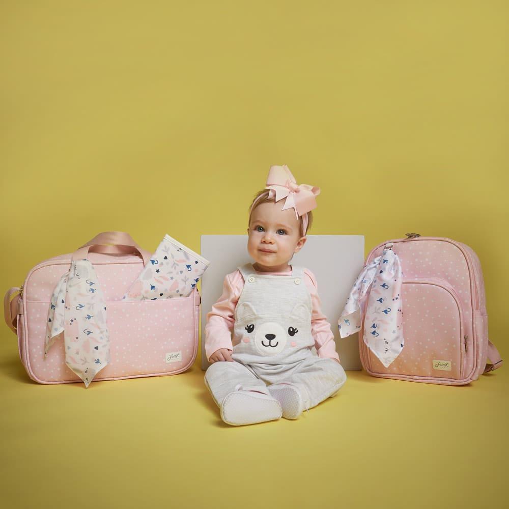 Bolsa maternidade bunny rosa