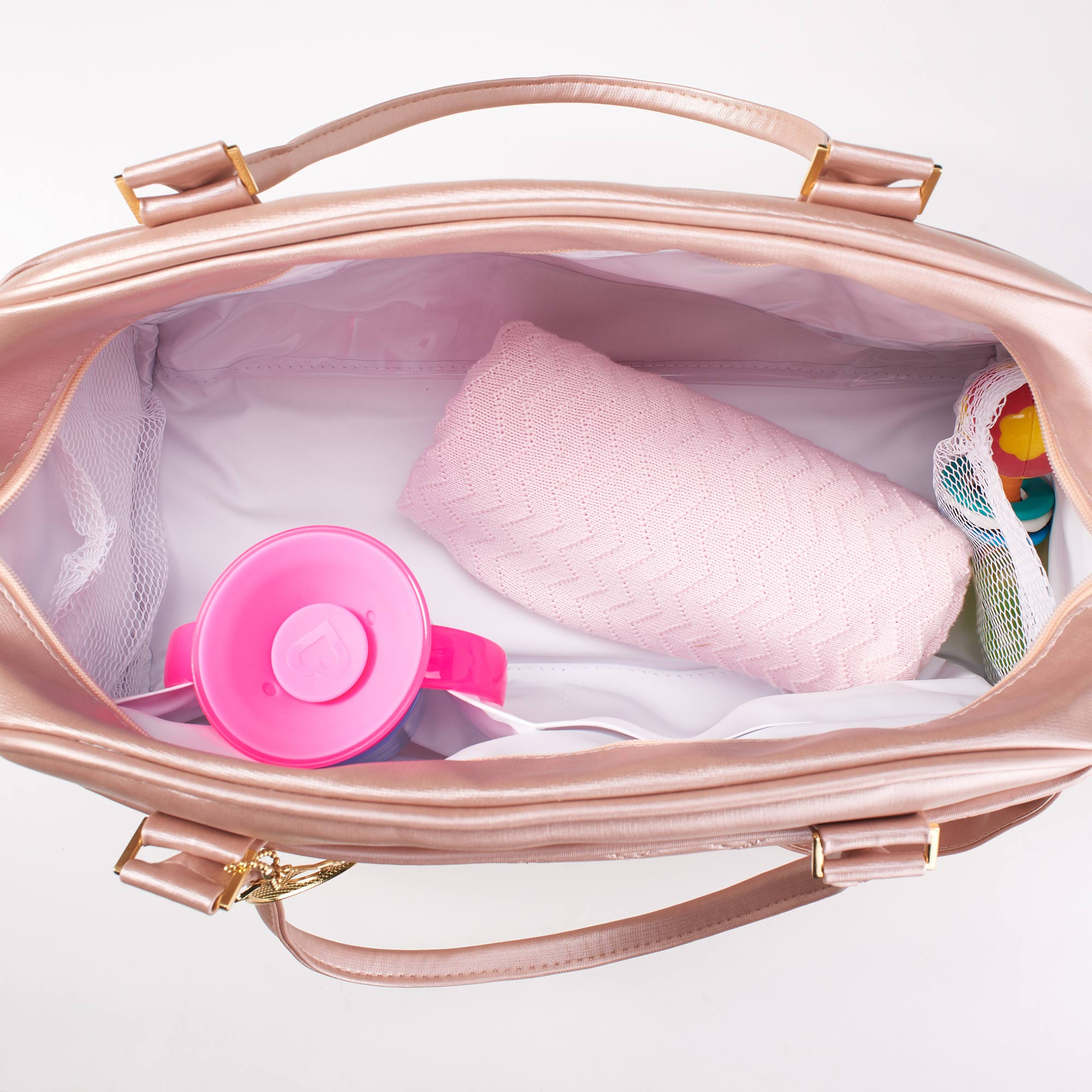 Bolsa maternidade pequena rosa - memphis