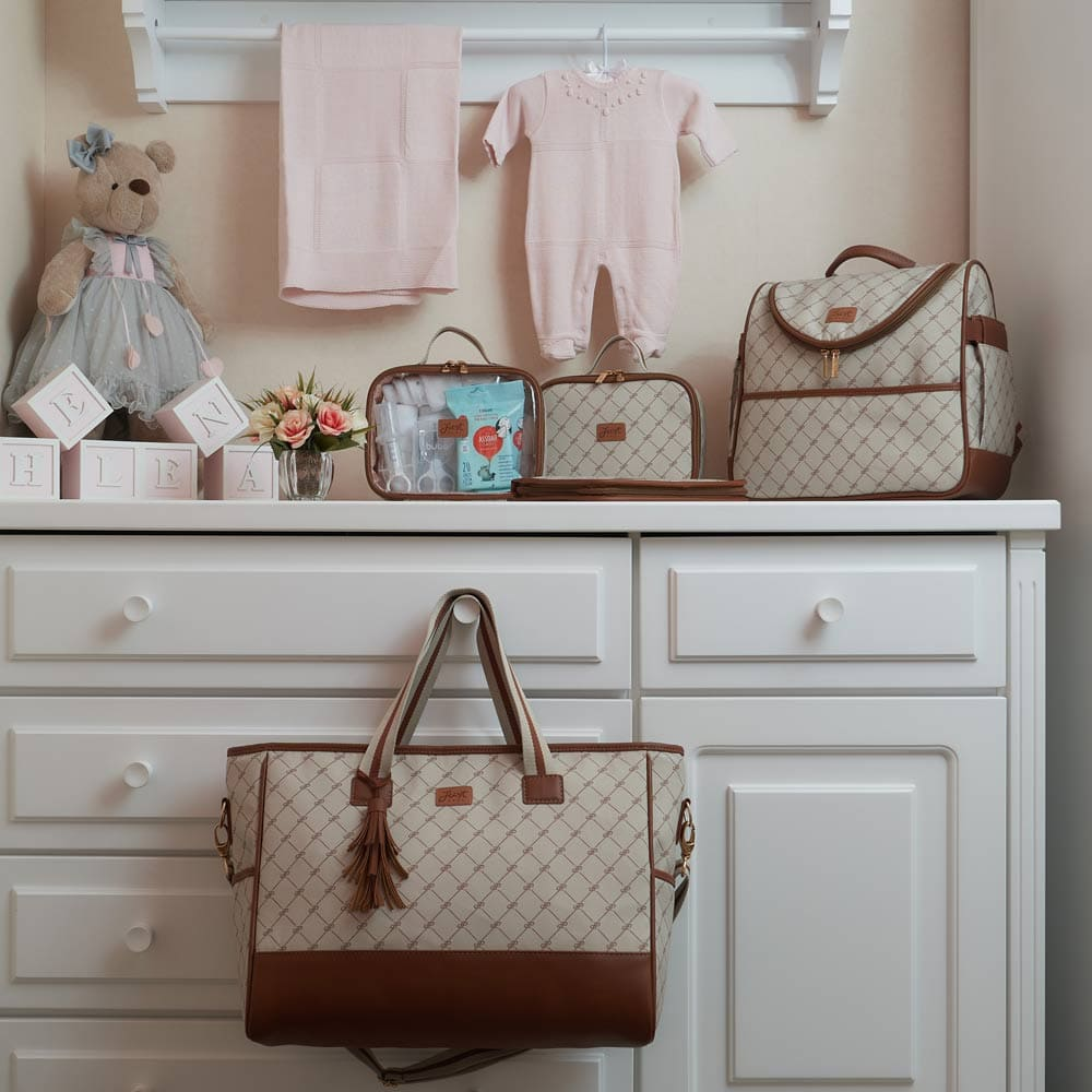 Bolsa Maternidade Shopping Bella Bege
