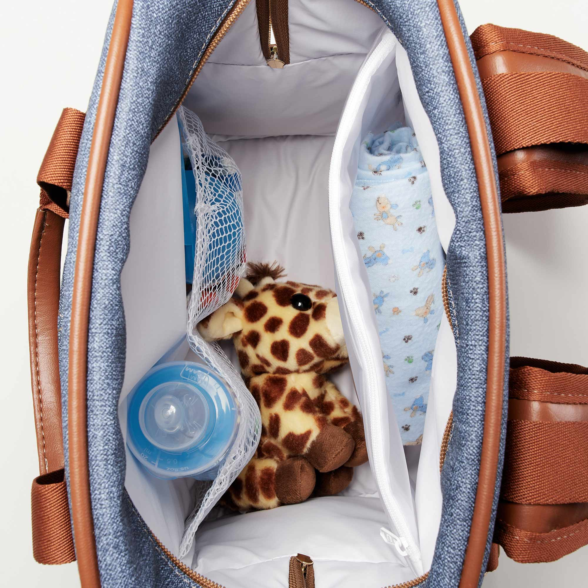 Bolsa Mochila maternidade Chicago Jeans