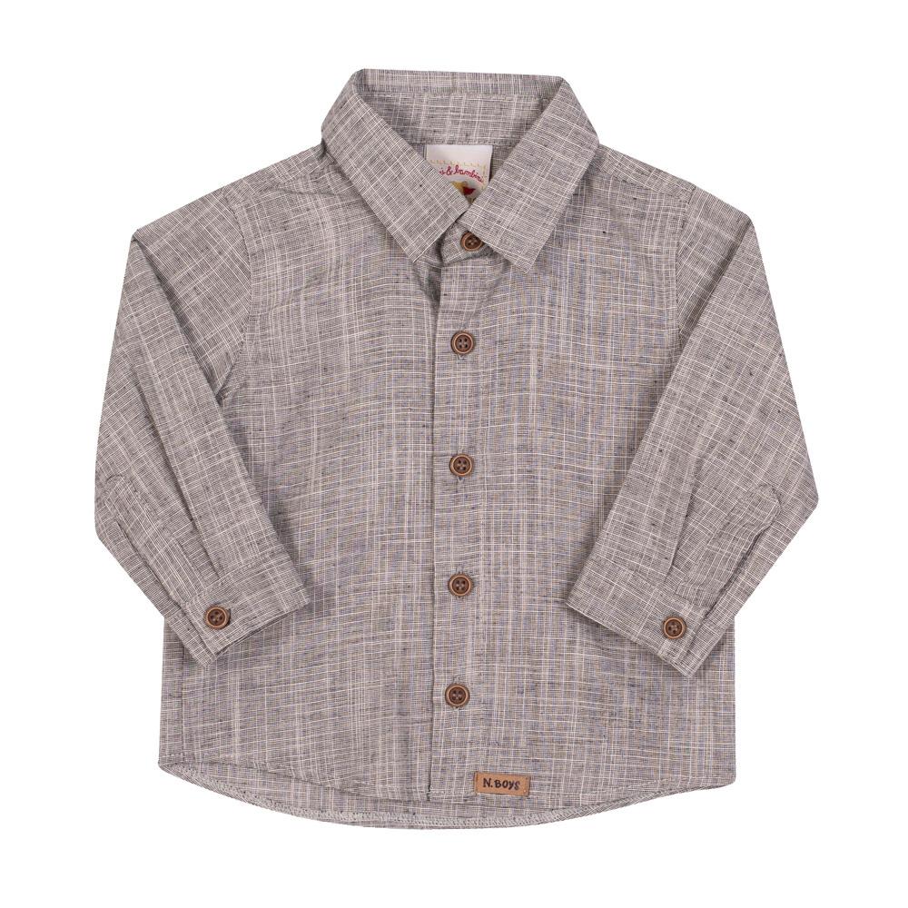 Camisa infantil cinza