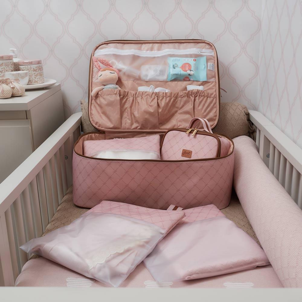 Kit organizador de maternidade Bella Rosa