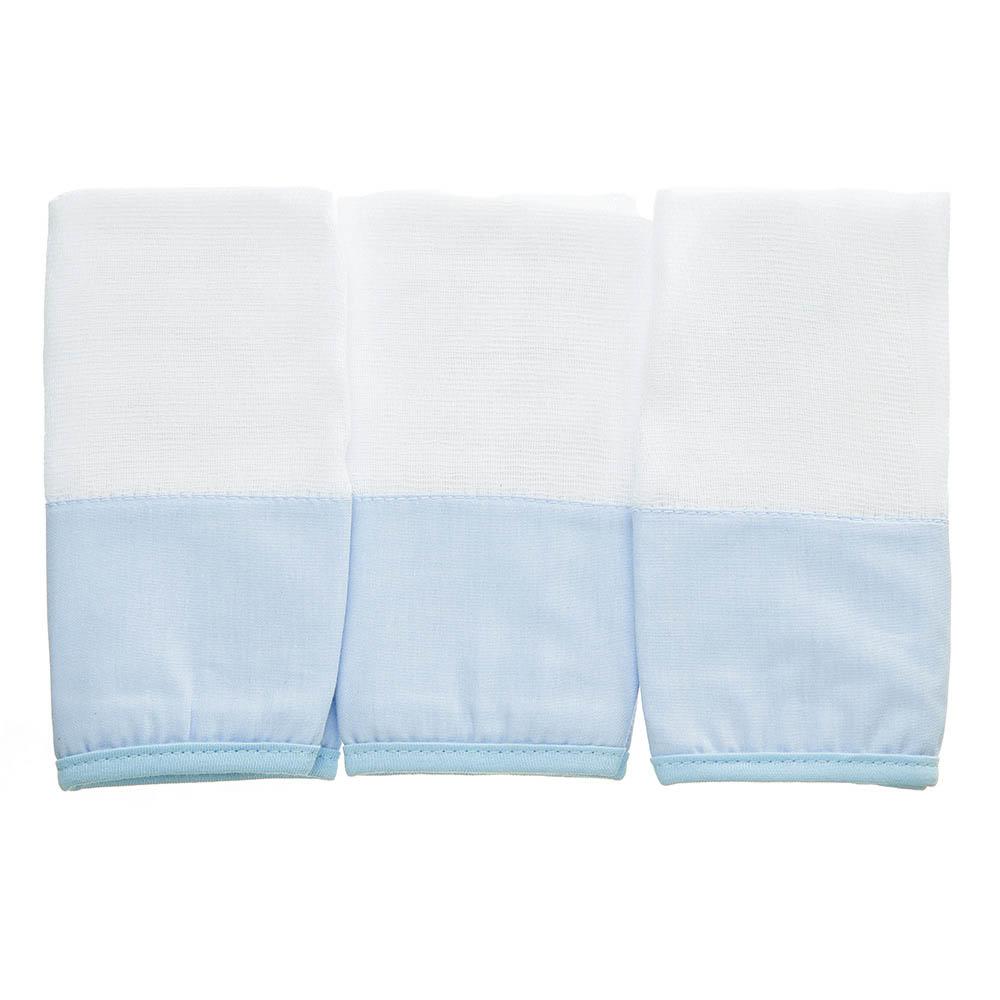 Kit toalha de boca em fralda Classic Azul