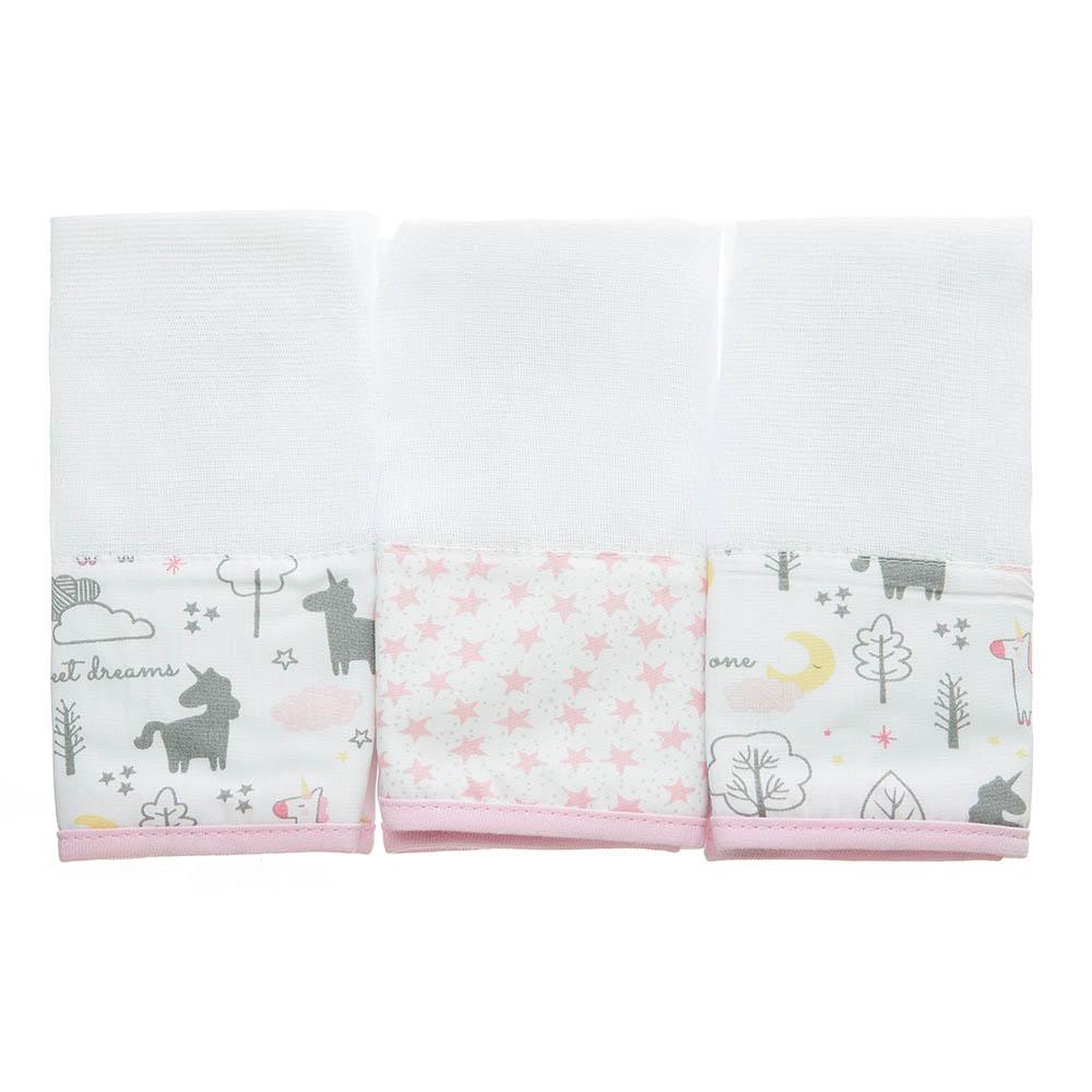 Kit toalha de boca em fralda Unicórnio