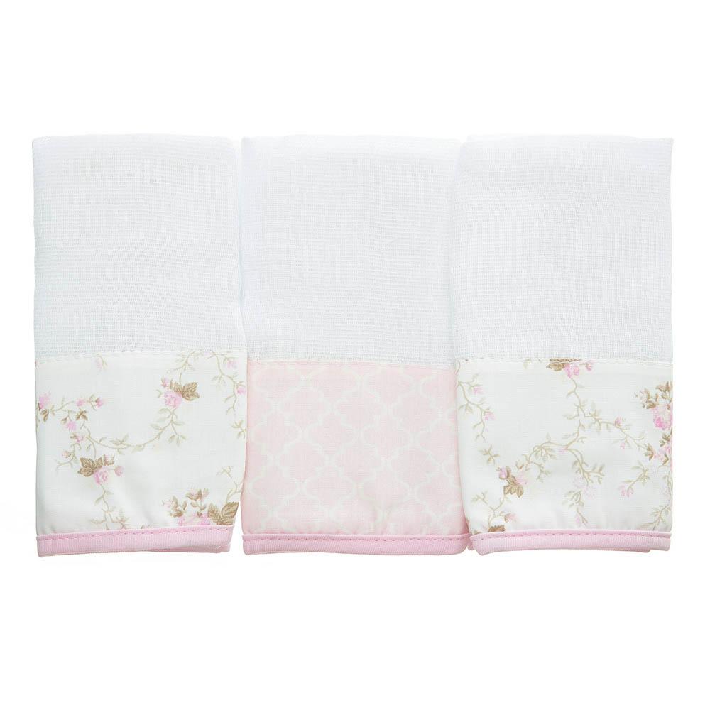 Kit toalha de boca em fralda Ursinha