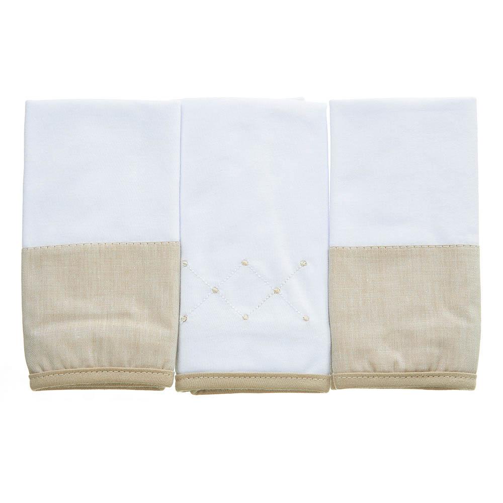 Kit toalha de boca em malha Classic Bege