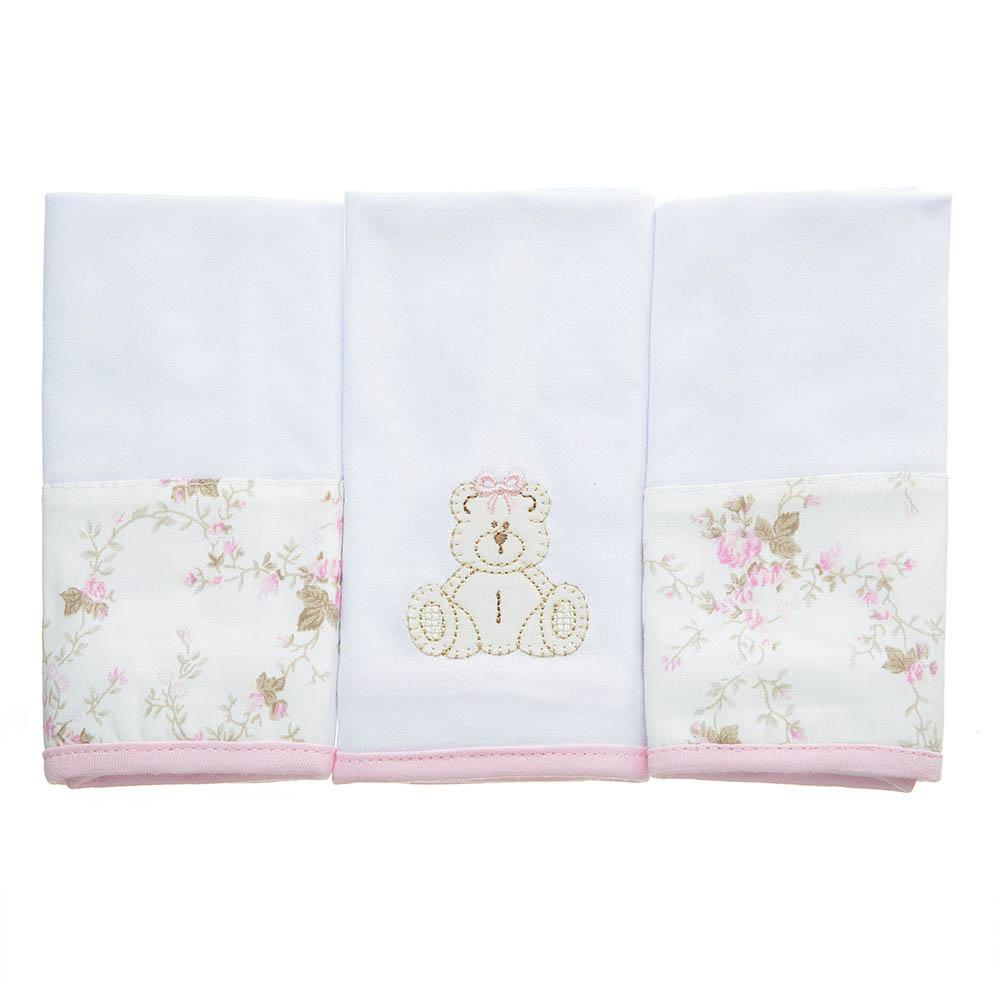Kit toalha de boca em malha Ursinha
