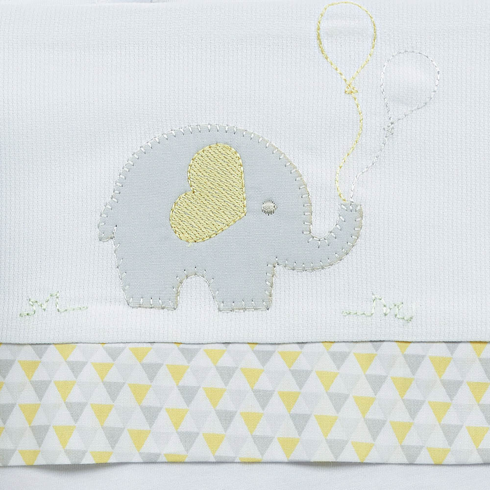 Lençol para carrinho elefantinho