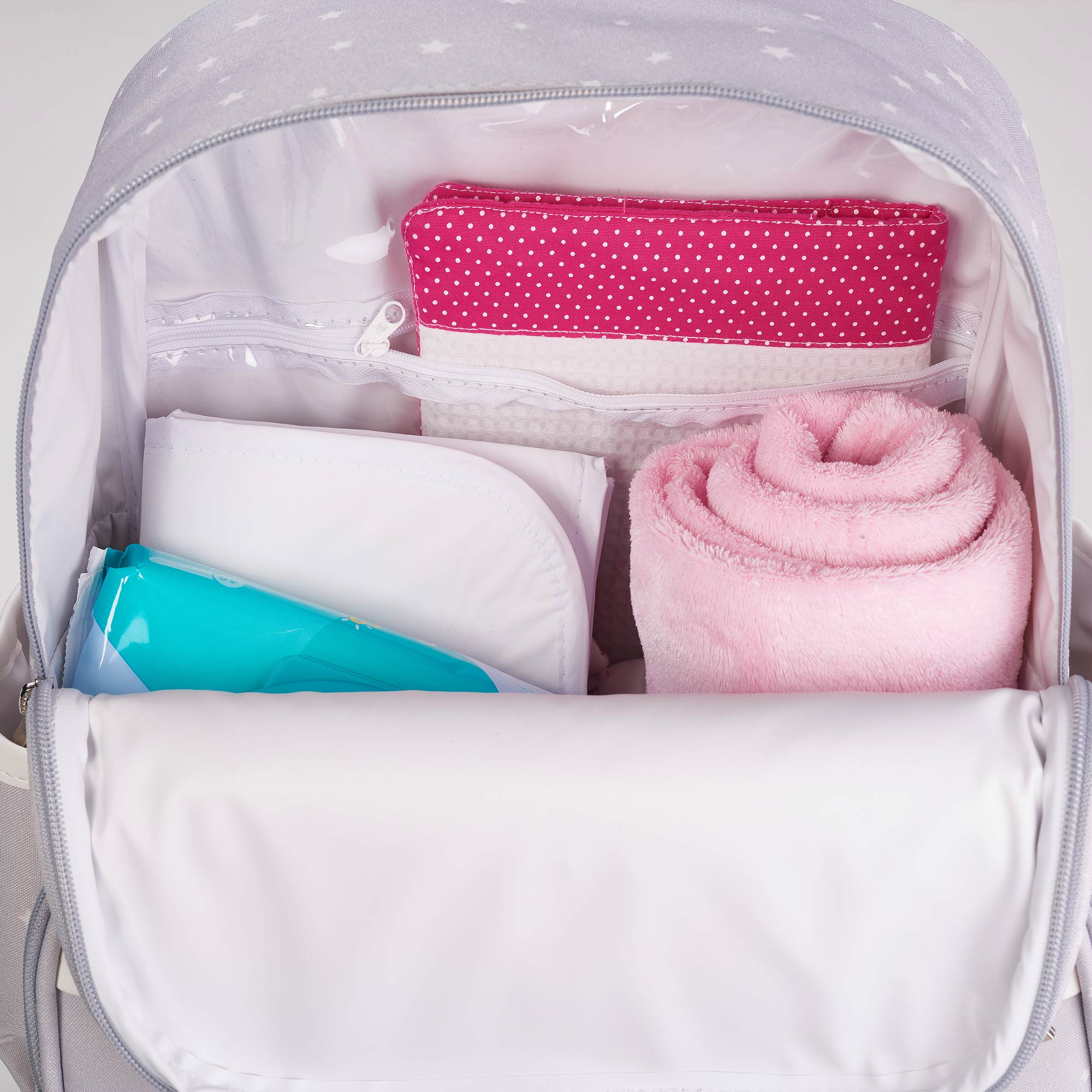 Mochila maternidade star rosa