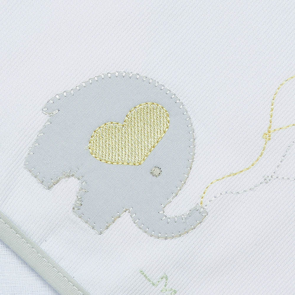 Toalha de banho em fralda Elefantinho