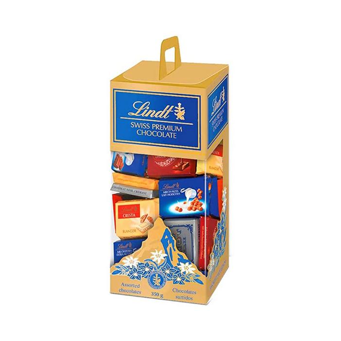 Kit Vinho Italiano Tinto Miluna + Chocolate Lindt Sortidos 350G