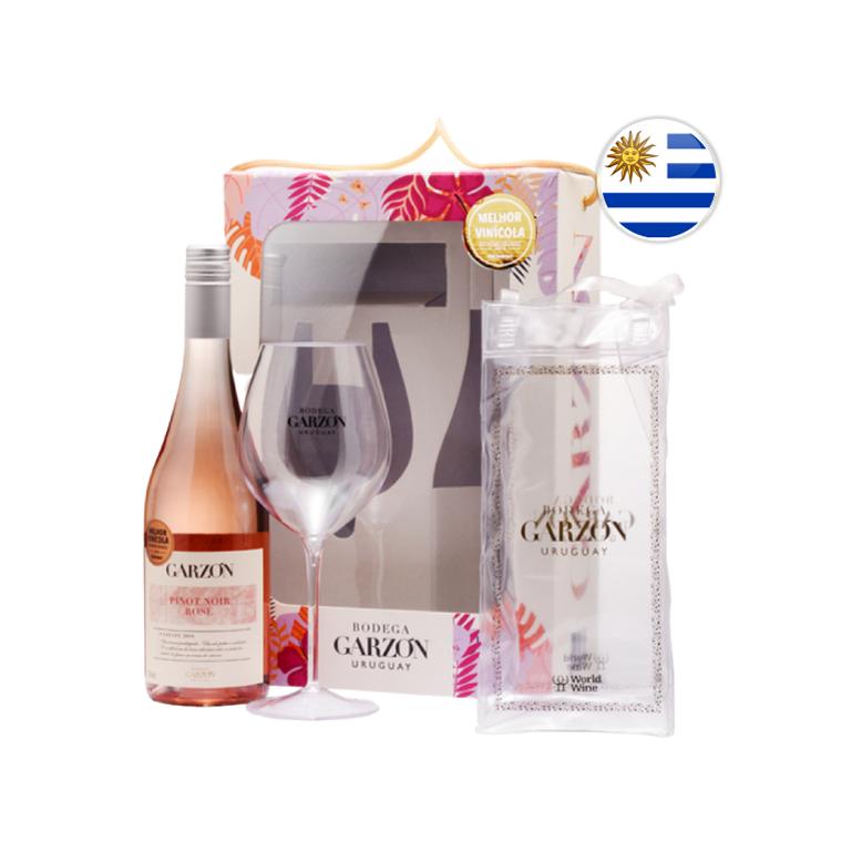 Kit Mãe Autêntica - Vinho Uruguaio Rosé Garzon Com Taça