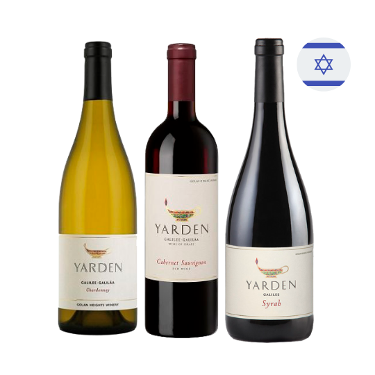 Kit Vinhos Israelenses Kosher Yarden - 3 unidades
