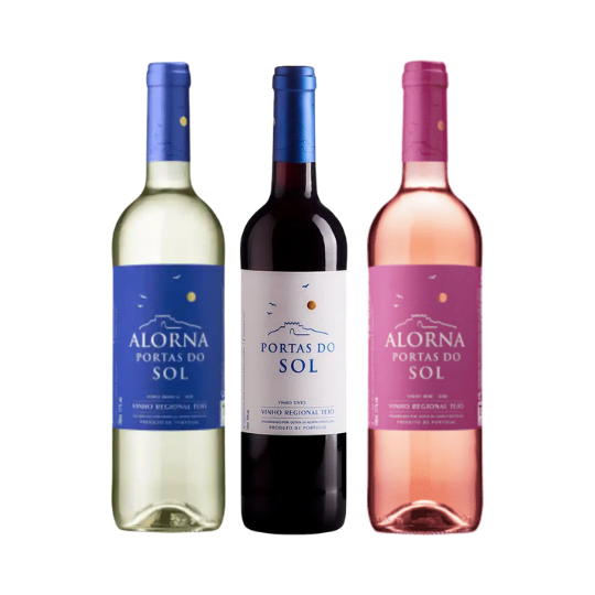 Kit Vinhos Portas do Sol - Branco, Rosé e Tinto (3 unidades)