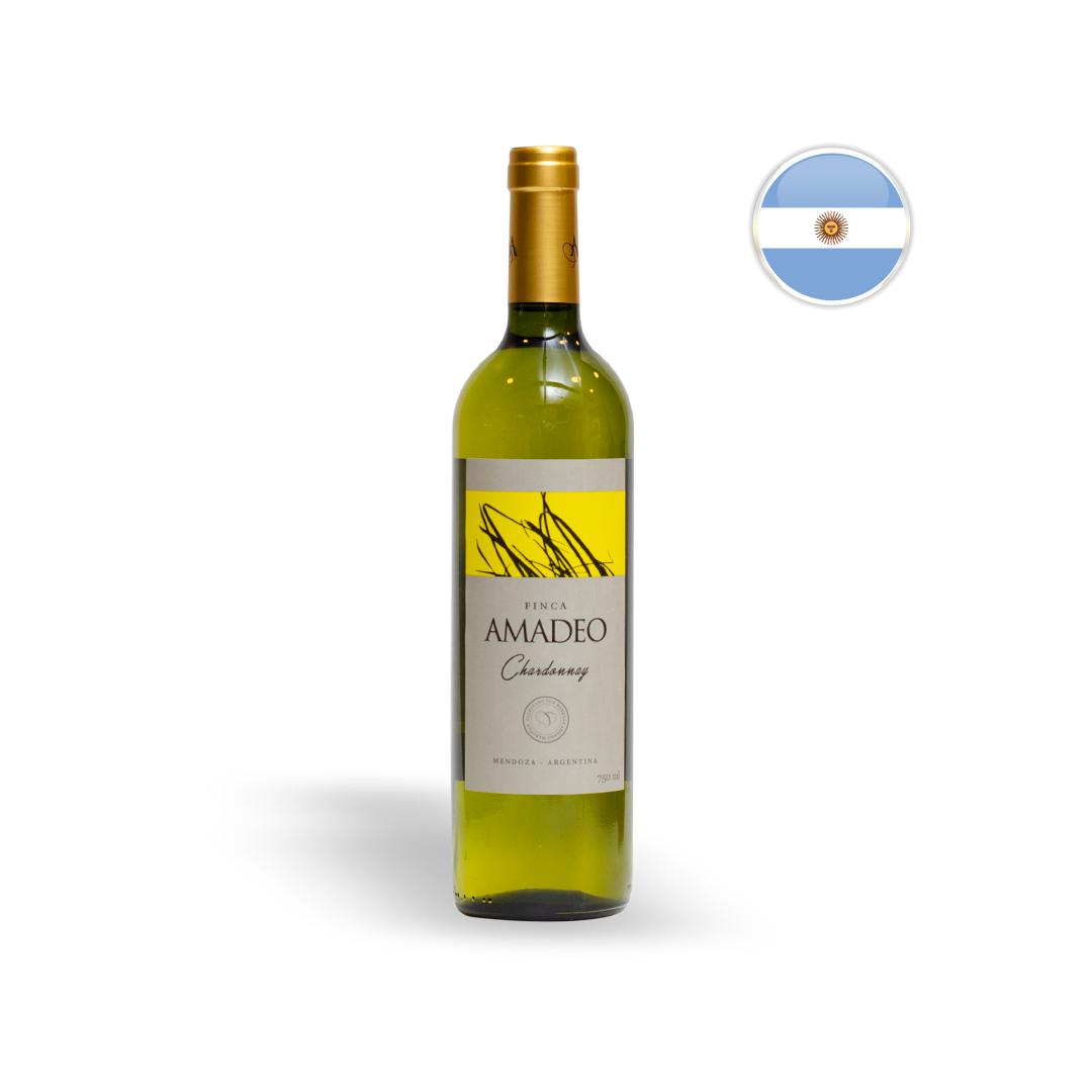 Vinho Argentino Branco Amadeo Chardonnay 750ML