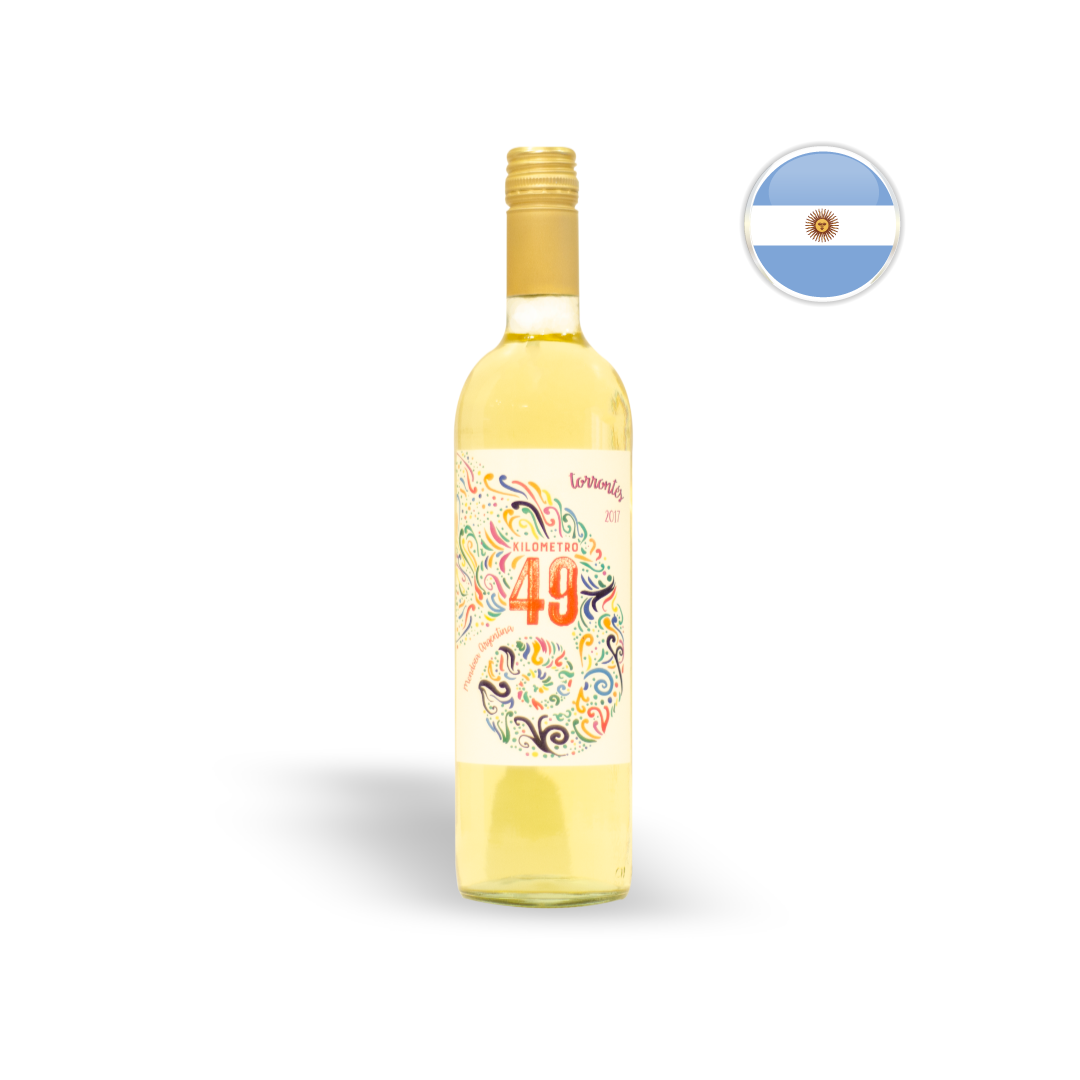Vinho Argentino Branco Kilometro 49 Torrontes Garrafa 750ML