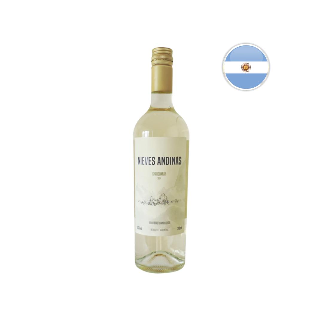 Vinho Argentino Branco SC Nieves Andinas Chardonnay Garrafa 750ML