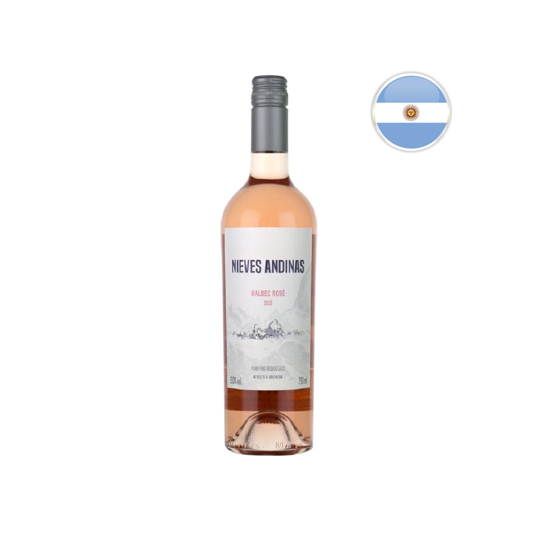 Vinho Argentino Rosé SC Nieves Andinas Malbec Garrafa 750ML