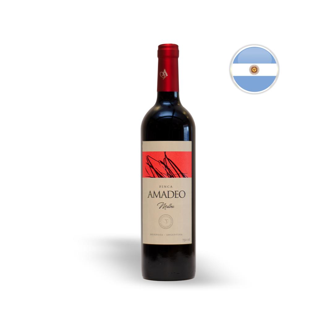 Vinho Argentino Tinto Amadeo Malbec Garrafa 750ML