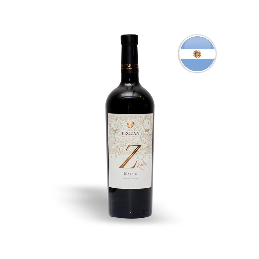 Vinho Argentino Tinto Prozan Malbec Roble Garrafa 750ML