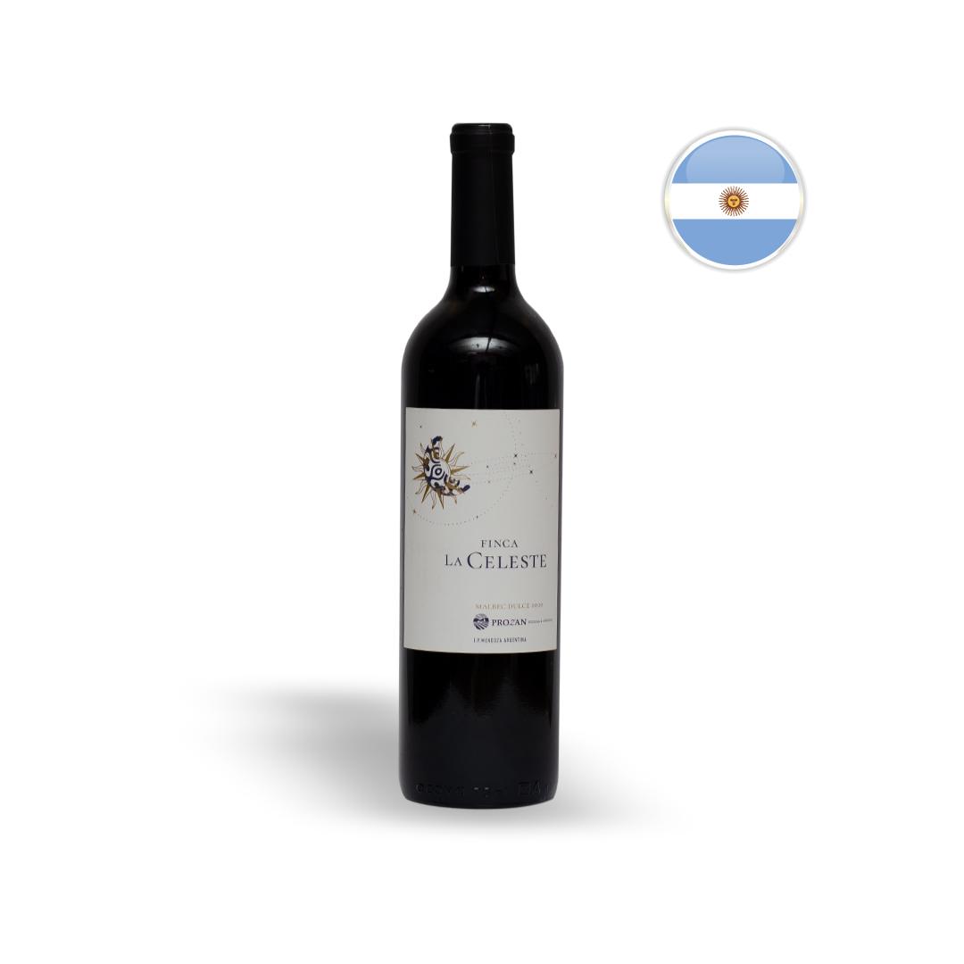 Vinho Argentino Tinto Suave Finca La Celeste Malbec Dulce Garrafa 750ML