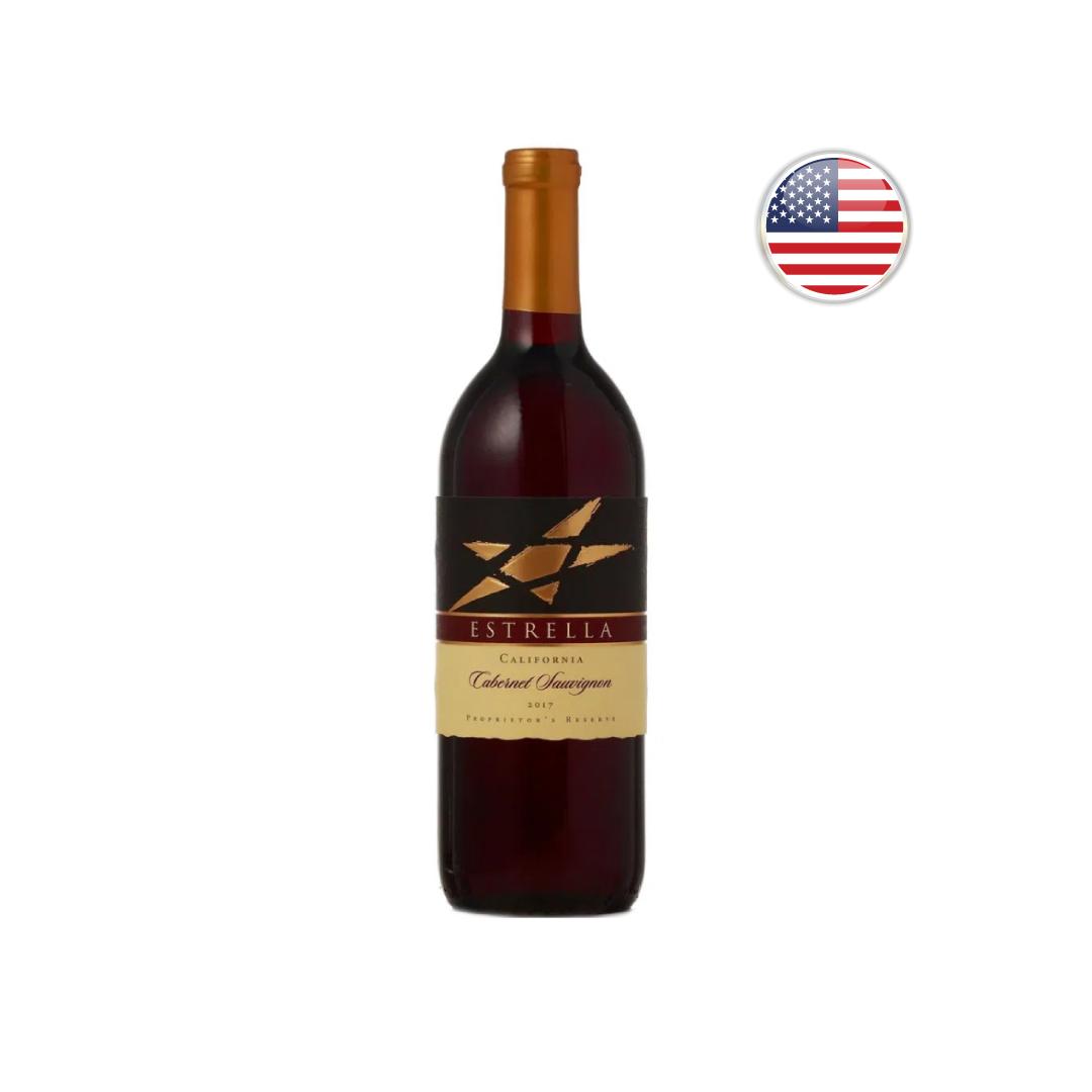 Vinho Californiano Tinto Estrella Cabernet Sauvignon 2017 - 750ML