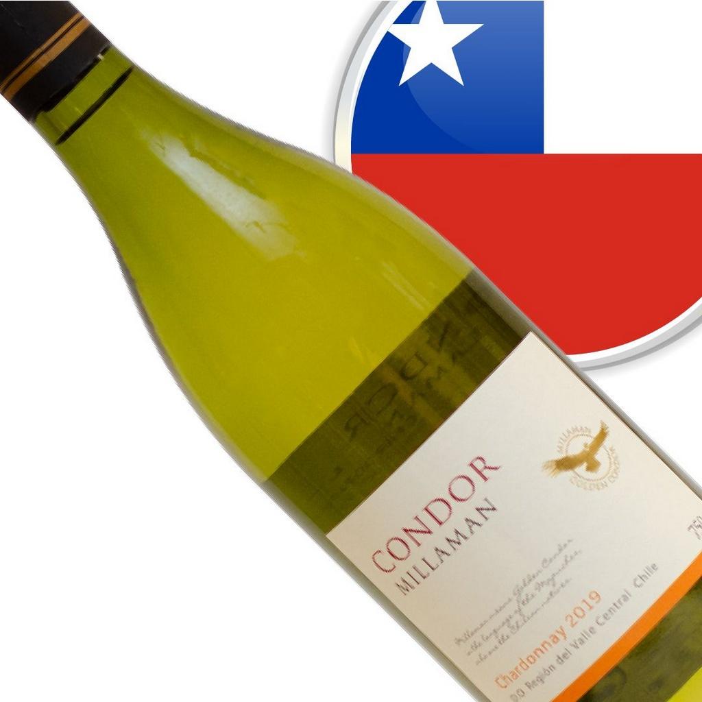 Vinho Chileno Branco Condor Millaman Chardonnay Garrafa 750ml