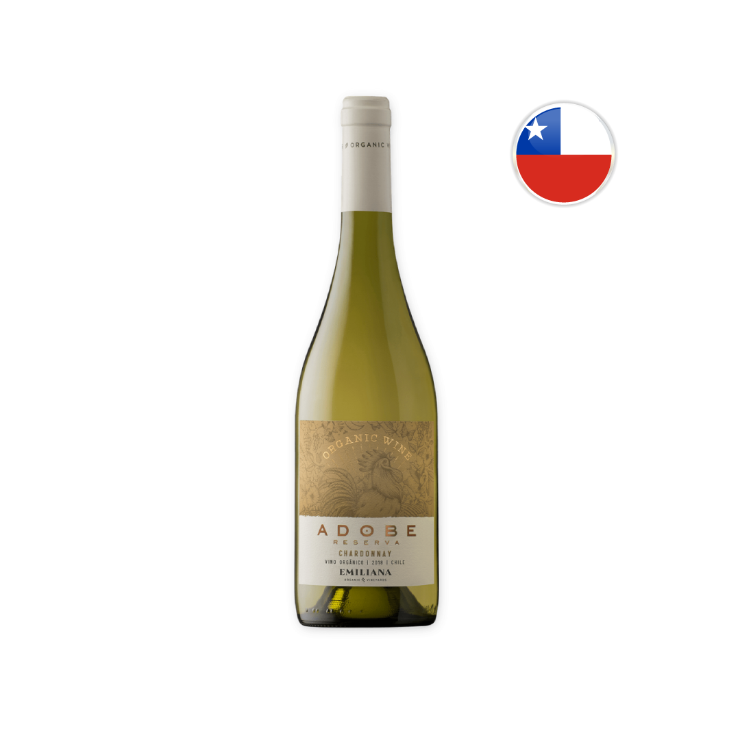 Vinho Chileno Branco Orgânico Emiliana Adobe Chardonnay 750ML