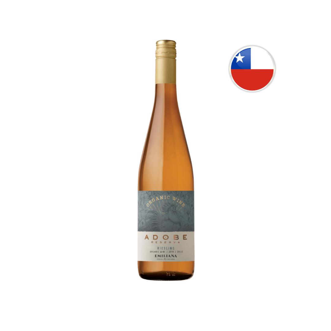 Vinho Chileno Branco Orgânico Emiliana Adobe Riesling 750ML