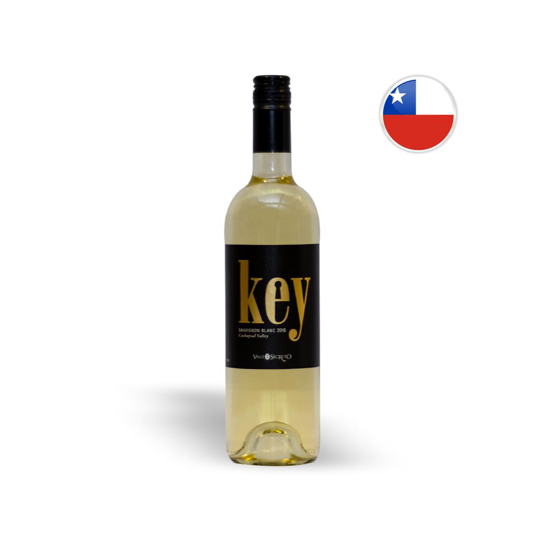 Vinho Chileno Branco Valle Secreto Key - Sauvignon Blanc Garrafa 750ML