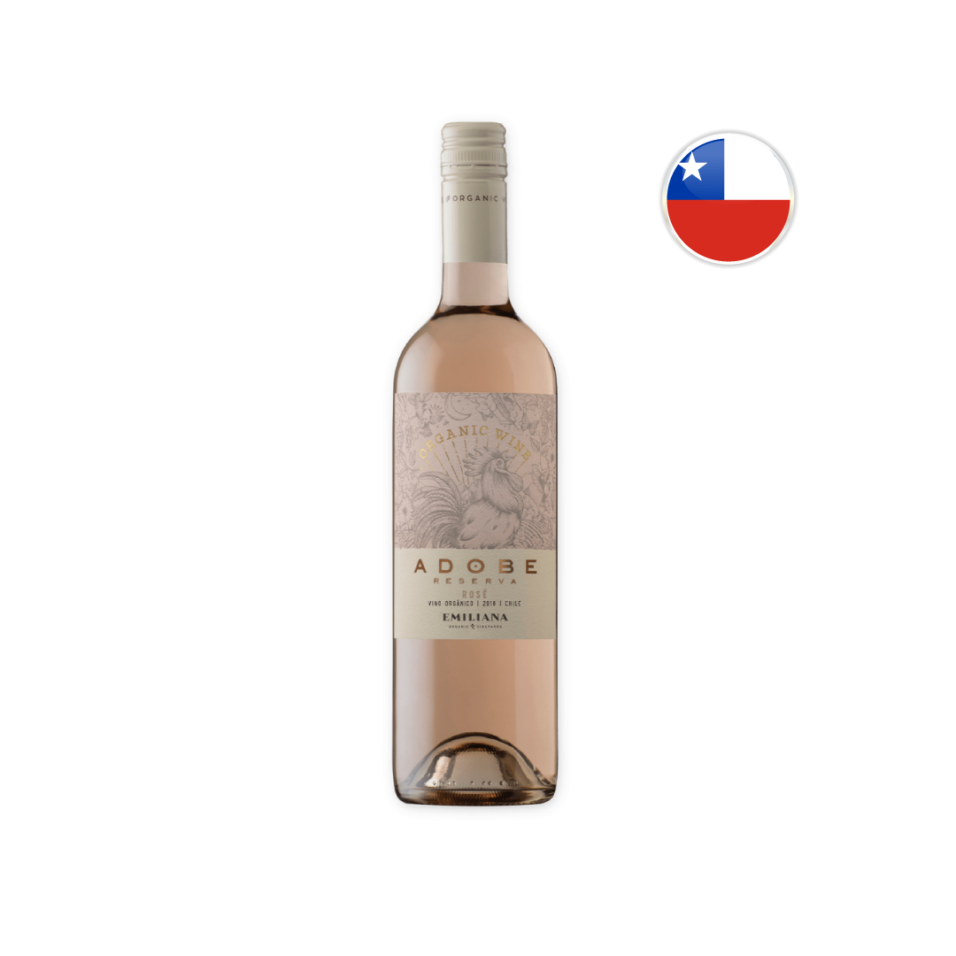 Vinho Chileno Rosé Orgânico Emiliana Adobe 750ML