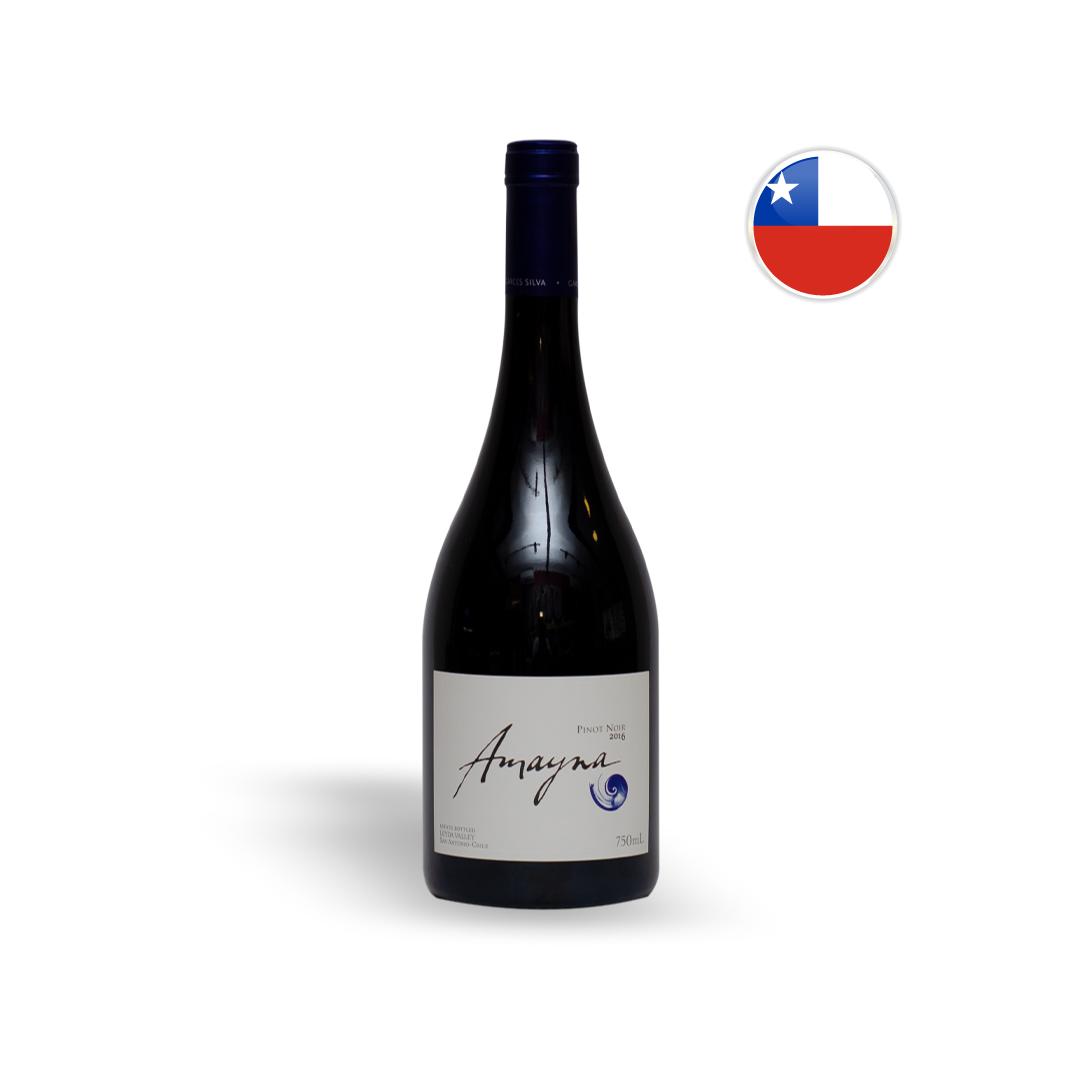 Vinho Chileno Tinto Amayna Pinot Noir Garrafa 750ML