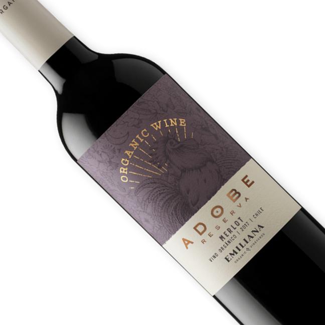 Vinho Chileno Tinto Orgãnico Emiliana Adobe Merlot 750ML