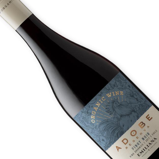 Vinho Chileno Tinto Orgânico Emiliana Adobe Pinot Noir 750ML