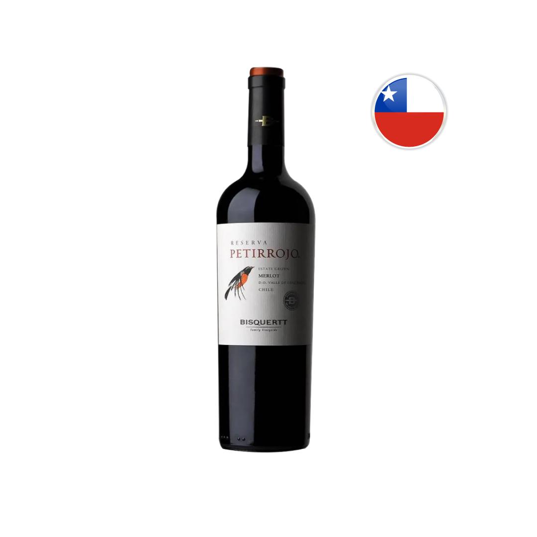 Vinho Chileno Tinto Petirrojo Reserva Merlot 750ML