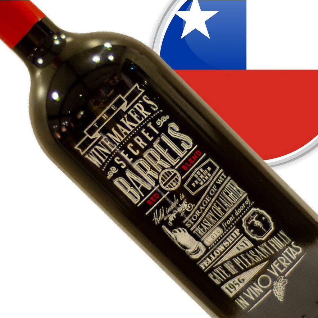 Vinho Chileno Tinto The Winemaker's Secret Barrel Blend Garrafa 1 Litro