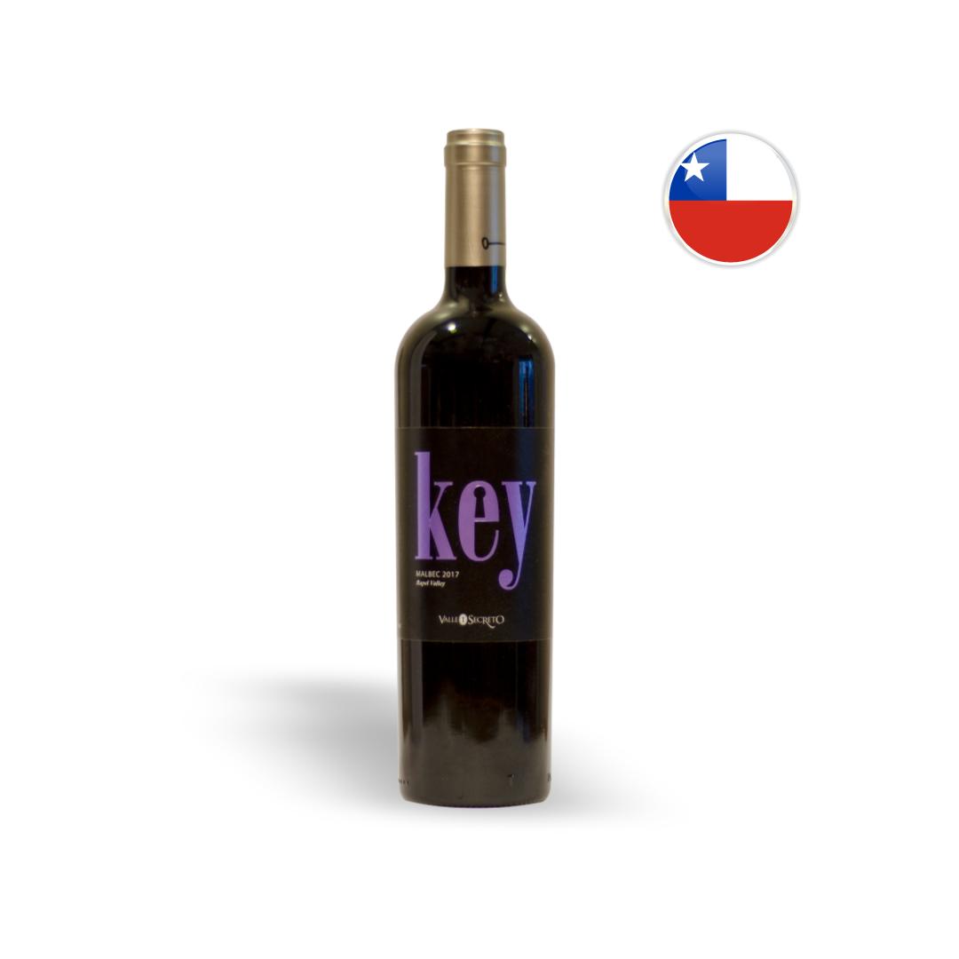 Vinho Chileno Tinto Valle Secreto Key Malbec Garrafa 750ML