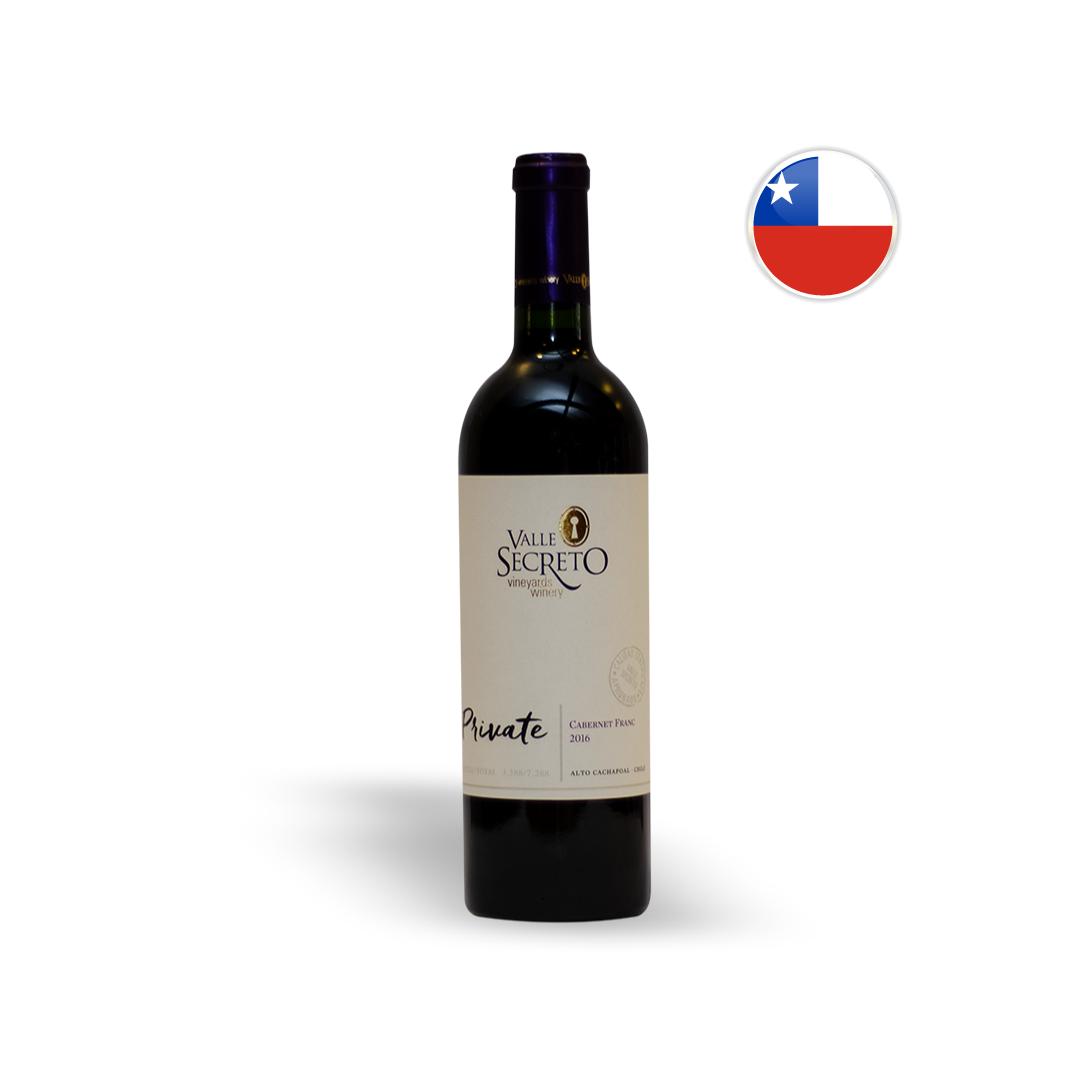Vinho Chileno Tinto Valle Secreto Private Cabernet Franc Garrafa 750ML