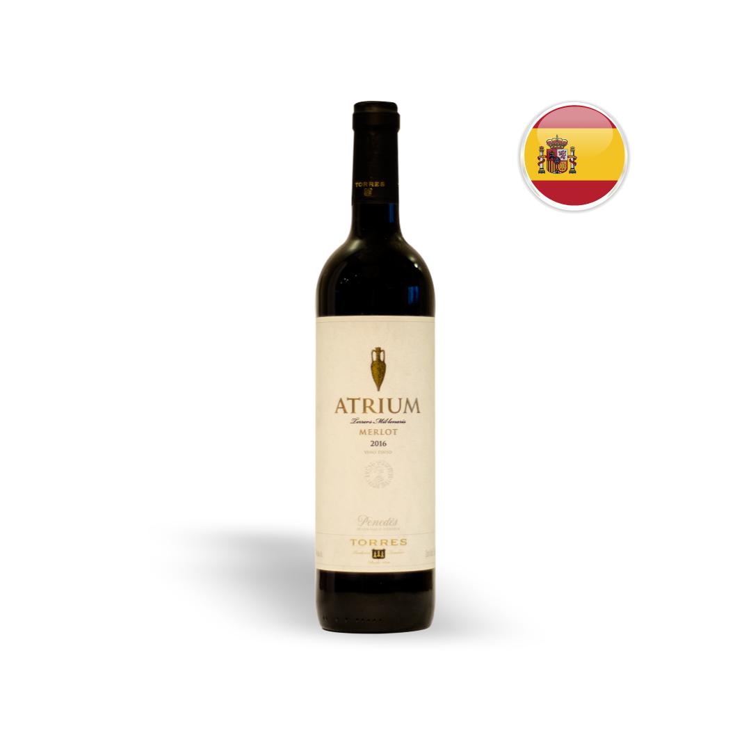 Vinho Espanhol Tinto Atrium Torres Merlot 2016 - 750ML