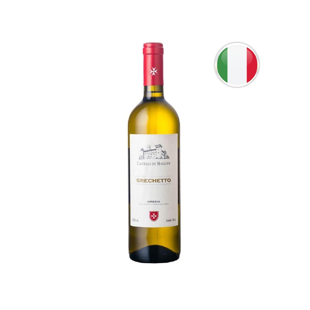 Vinho Italiano Branco Grechetto Castello Di Magione Umbria IGT - 750ML