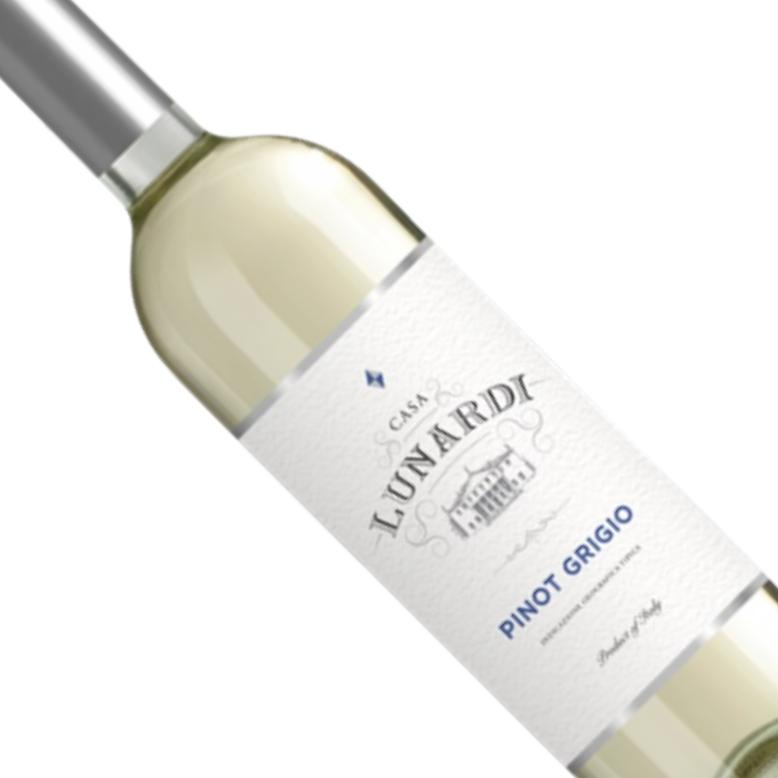 Vinho Italiano Branco Lunardi Pinot Grigio Riondo 2018 - 750ML