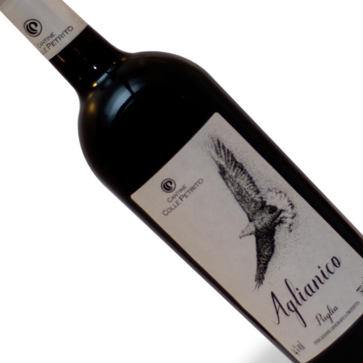 Vinho Italiano Tinto Colle Petrito Aglianico Puglia Garrafa 750ML