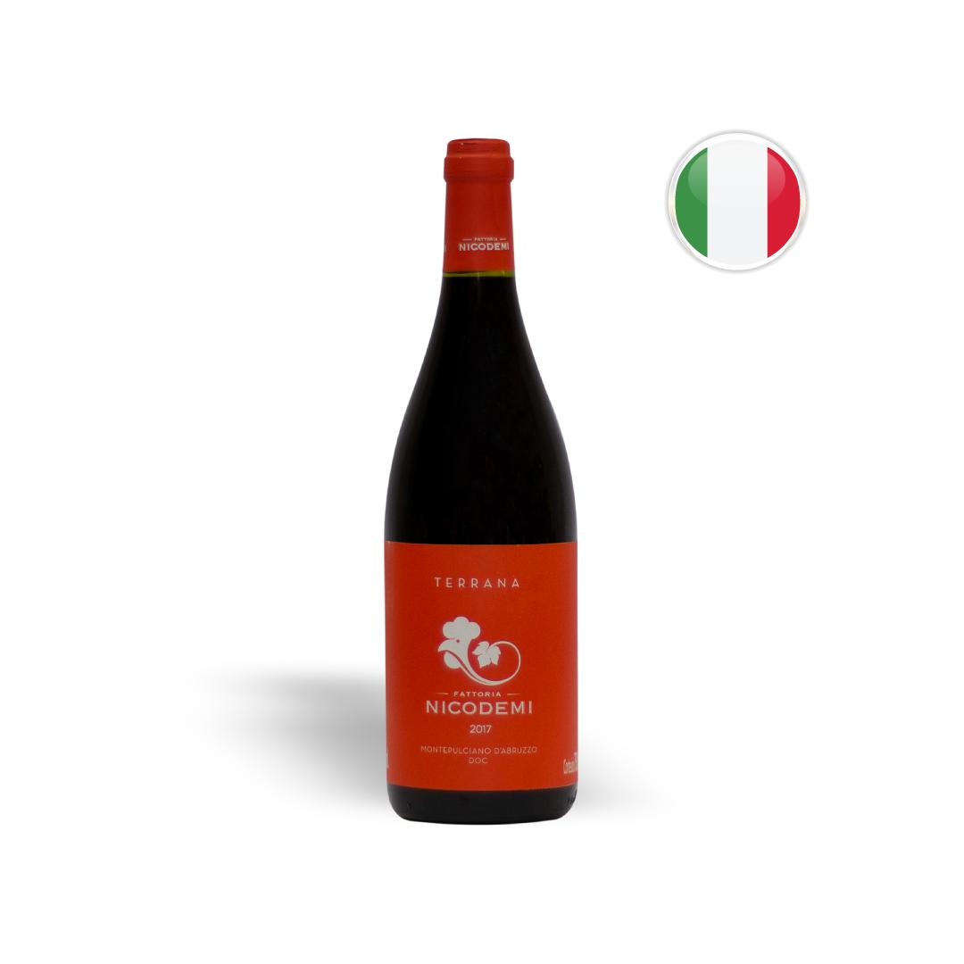 Vinho Italiano Tinto Fattoria Nicodemi Terrana Montepulciano D' Abruzzo DOC Garrafa 750ML